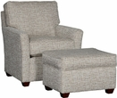 Hamal Chair & Ottoman Trelor Putty - Chelsea Home Furniture 391117F40-50-GR-TP