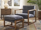 Harbor House Durham Leather Sling Chair in Grey - Olliix HH100-0103