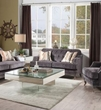 Helenium Loveseat w/ 2 Pillows in Gray Chenille - Acme Furniture 50216
