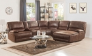 Hibiscus Sectional Sofa (Power Motion) in Brown Polished Microfiber - Acme Furniture 53075