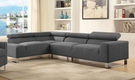 Horace Sectional Sofa in Gray Linen - Acme Furniture 52890