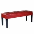 Howard Bench Red Bonded Leather - Armen Living LC47211BERE