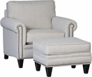 Ickett Chair & Ottoman Namaste Metal - Chelsea Home Furniture 393949F40-50-GR-NM