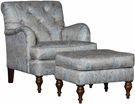 Illinois Chair & Ottoman Paisley Opal - Chelsea Home Furniture 397070F40-50-GR-PO