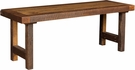 Immanuel Barnwood Bench Hickoy Seely Stain - Chelsea Home Furniture 420-2303