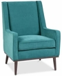 INK+IVY Ally Accent Chair in Blue - Olliix II100-0258