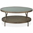 INK+IVY Cambridge Round Coffee Table in Hammered Antique Silver - Olliix II120-0024