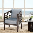 INK+IVY Crackle Lounge Chair in Blue - Olliix FPF18-0414