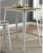 Jakia II Bar Table in Natural & White - Acme Furniture 72375