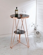 Jarvis Bar Table in Black Glass & Rose Gold - Acme Furniture 72579