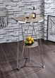Jarvis Bar Table in Gray Oak & Chrome - Acme Furniture 72575