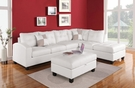 Kiva Sectional Sofa w/ 2 Pillows (Reversible) in White Bonded Leather Match - Acme Furniture 51175