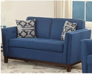 Lucius Loveseat w/ 2 Pillows in Blue Linen - Acme Furniture 52836