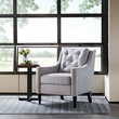 Madison Park Adaline Rolled Arm Accent Chair in Silver - Olliix FPF18-0476