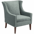 Madison Park Addy Wing Chair in Blue - Olliix FPF18-0472