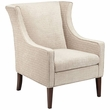 Madison Park Addy Wing Chair in Cream - Olliix FPF18-0473