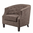 Madison Park Ansley Chesterfield Barrel Chair in Chocolate - Olliix FPF18-0093
