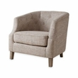 Madison Park Ansley Chesterfield Barrel Chair in Natural - Olliix FPF18-0440
