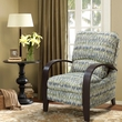 Madison Park Archdale Bent Arm Recliner in Blue - Olliix 258250059