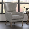 Madison Park Arianna Swoop Wing Chair in Grey - Olliix FPF18-0429