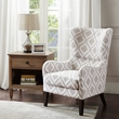 Madison Park Arianna Swoop Wing Chair in Grey/White - Olliix MP100-0018