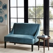 Madison Park Avalon Swoop Arm Settee in Blue/Brown - Olliix MP106-0383
