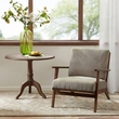 Madison Park Axis Exposed Wood Accent Chair in Mushroom - Olliix FPF18-0506