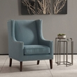 Madison Park Barton Wing Chair in Blue - Olliix FPF18-0419