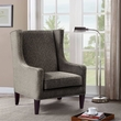 Madison Park Barton Wing Chair in Brown Multi - Olliix FMY002GRY