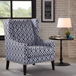 Madison Park Barton Wing Chair in Navy - Olliix FPF18-0417
