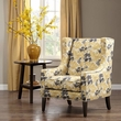 Madison Park Barton Wing Chair in Yellow - Olliix FPF18-0418