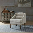 Madison Park Baylor Swoop Arm Accent Chair in Grey Multi - Olliix FPF18-0469
