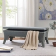 Madison Park Bower Storage Accent Bench in Blue - Olliix MP105-0472
