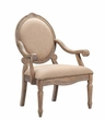 Madison Park Brentwood Exposed Wood Arm Chair in Beige - Olliix FPF18-0154