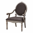 Madison Park Brentwood Exposed Wood Arm Chair in Grey - Olliix FPF18-0107