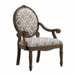 Madison Park Brentwood Exposed Wood Arm Chair in Grey/White - Olliix FPF18-0442