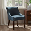 Madison Park Caitlyn Roll Back Accent Chair in Blue Multi - Olliix MP100-0024