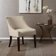 Madison Park Caitlyn Roll Back Accent Chair in Cream - Olliix FPF18-0497