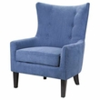 Madison Park Carissa Shelter Wing Chair in Blue - Olliix FPF18-0158