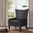 Madison Park Carissa Shelter Wing Chair in Charcoal - Olliix FMY007BLK