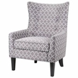 Madison Park Carissa Shelter Wing Chair in Grey - Olliix FPF18-0159