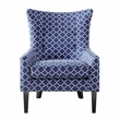 Madison Park Carissa Shelter Wing Chair in Navy - Olliix FPF18-0491