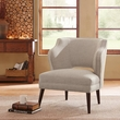 Madison Park Cody Open Back Accent Chair in Natural - Olliix FPF18-0396