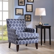 Madison Park Colton Chair in Blue/White - Olliix FPF18-0436