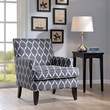 Madison Park Colton Track Arm Club Chair in Grey/White - Olliix MP100-0016