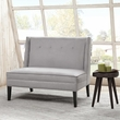 Madison Park Jensen Button Tufted High Back Settee in Grey - Olliix FPF18-0409