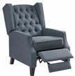 Madison Park Maxwell Recliner Chair in Blue - Olliix MP103-0612