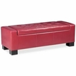 Madison Park Mirage Tufted Top Storage Bench in Red - Olliix FPF18-0139