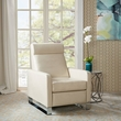 Madison Park Percy Push Back Recliner in Ivory - Olliix MP103-0250