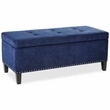 Madison Park Shandra II Tufted Top Storage Bench in Blue - Olliix FPF18-0195